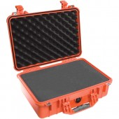 Pelicase 1500 orange with foam