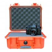 Pelicase 1400 orange with foam