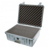 Pelicase 1550 silver with foam