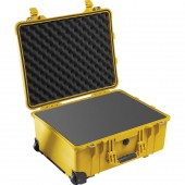 Peli case 1560 yellow with...