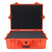 Pelicase 1600 orange with foam