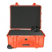 Peli case 1560 orange with...