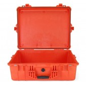 Peli case 1600 orange no foam