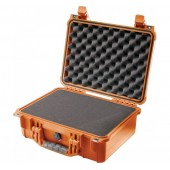 Pelicase 1450 orange with foam