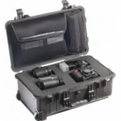 Pelicase 1510 black with foam & bag
