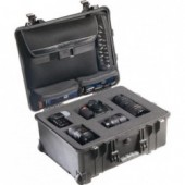 Pelicase 1560 black with foam & bag